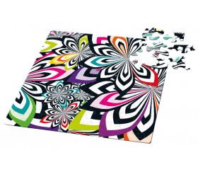 Mini puzzle 72 pièces décor design multicolore