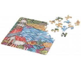 Mini puzzle 72 pièces paysage de mer design 12.5 x 12.5 cm