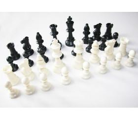 Pièces d'échecs jeu en plastique 77 mm