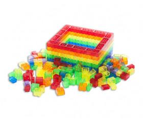 1000 blocs multicolores translucides emboîtables