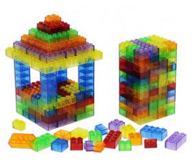 1000 briques de constructions multicolores translucides