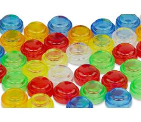 1000 pions multicolores encastrables pour jeux de comptage
