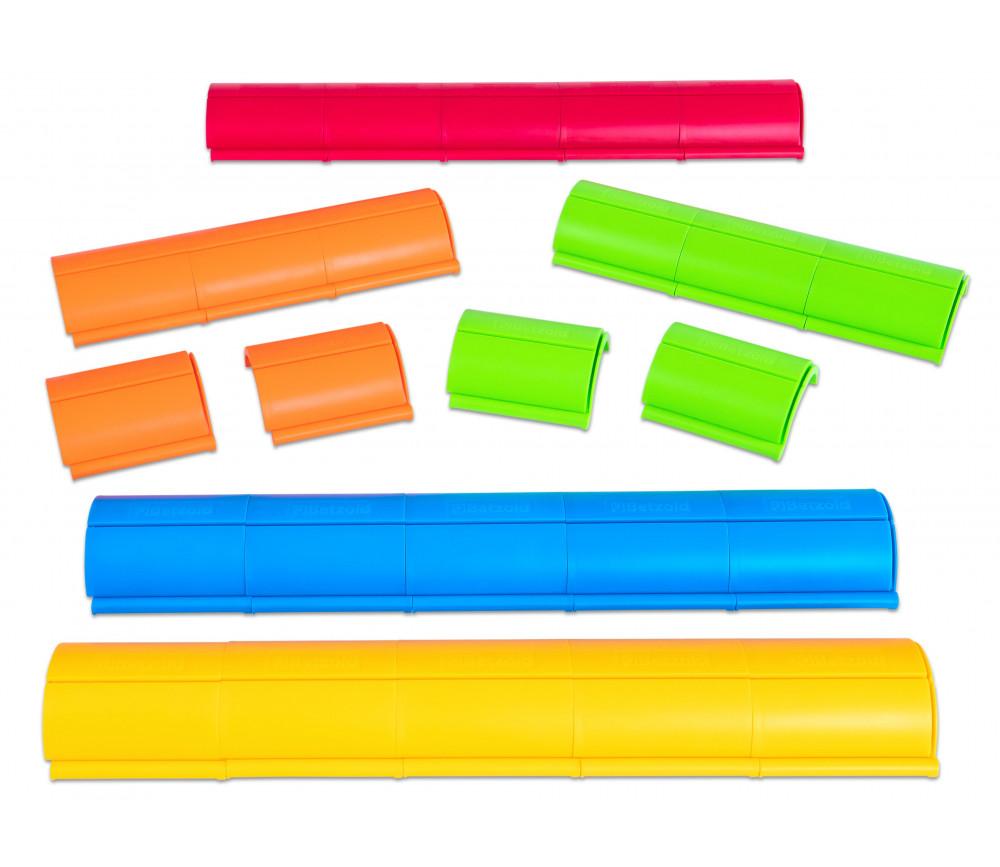 Porte carte modulable en plastique coloré à encastrer