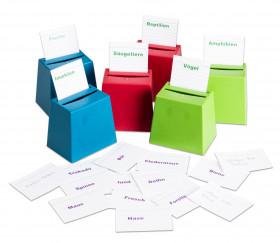 Mini urne - cache cartes quizz / jeu de tri en bio-plastique