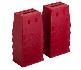 Tasse cup quizzer rouge smiley à l'unité