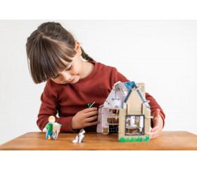 Jeu de construction en bois La maison écologique