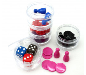 Boîte ronde Ø 5 cm avec 5 compartiments empilables en plastique
