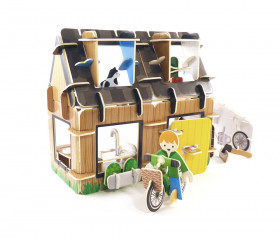 La maison écologique - Jeu de construction en bois La maison écologique