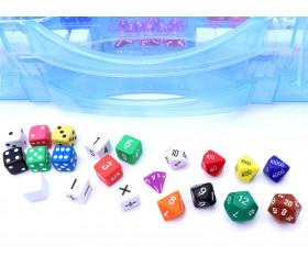 Valisette 162 dés à jouer pour mathématiques