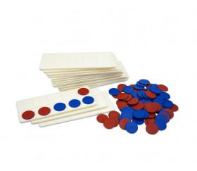 20 Tables de calcul de 1 à 10 + 200 jetons bicolores