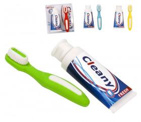 2 pions Gommes : 1 Brosse à dents + 1 tube de dentifrice