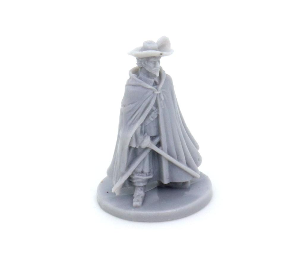 Personnage mousquetaire 40 x 25 mm plastique gris
