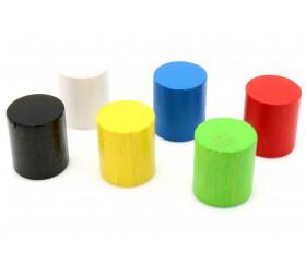 Cylindre en bois coloré 15 mm x 12.8 mm à l'unité
