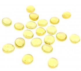 Galets gems jaunes set de 20 mini pierres plates 15/25 mm