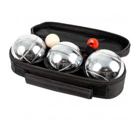 Set de 3 boules de pétanque avec housse de transport