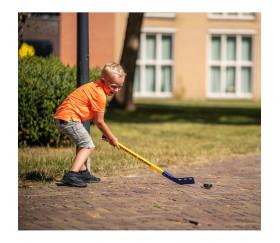 Set Hockey d'été : 2 crosses + 1 balle + 1 palet