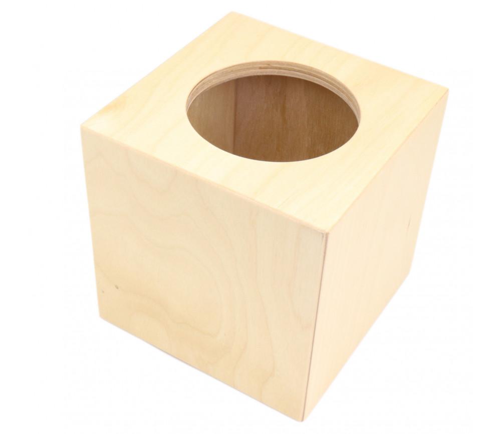 Cube mystère - Boite avec formes géométriques à piocher 15 x 15 x 15 cm