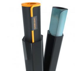 Tube plastique de rangement noir 38 cm