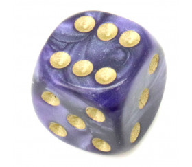 Dé à jouer nacré violet 16 mm