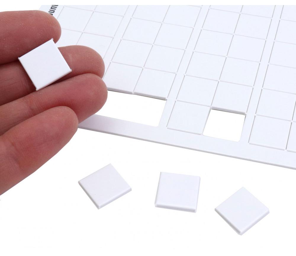 140 Tuiles carré 13 mm jetons épais blanc 1.3 cm vierge à personnaliser