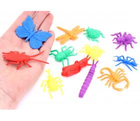 Boite 72 insectes 4/5 cm - 6 couleurs pour jeux