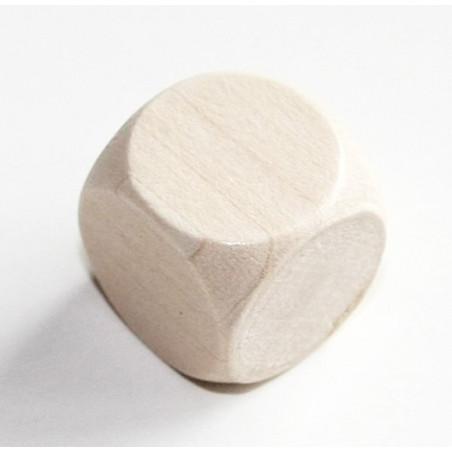 Dé neutre 18 mm en bois sans marquage hêtre