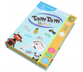 Tamtam Safari coffret CP jeu de lecture niveau 1 + 2