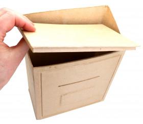 Urne Boite aux lettres en carton neutre à personnaliser