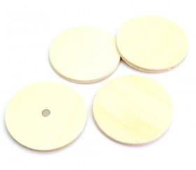 4 ronds 5 cm en bois aimantés magnets
