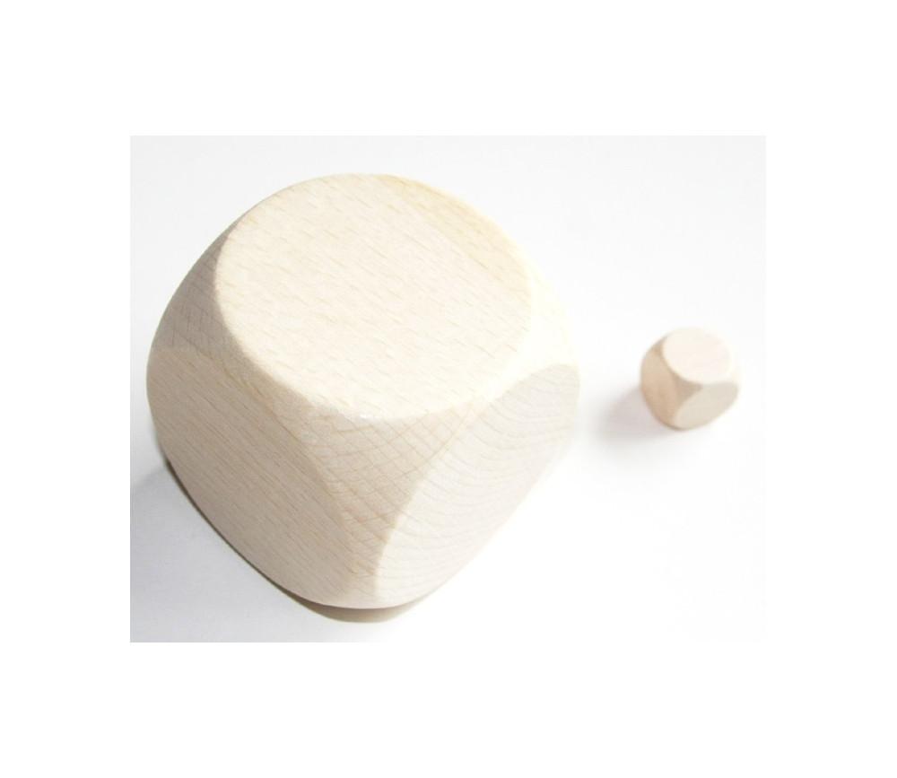 Dé géant en bois naturel 60 mm neutre