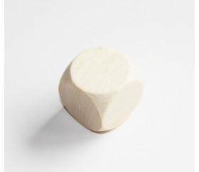 Grand dé vierge en bois naturel 30 mm neutre
