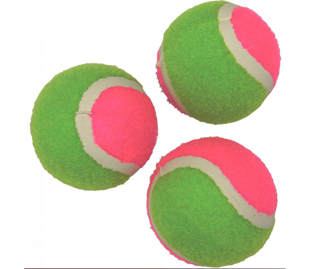 3 Balles de tennis scratch pour cible lancer