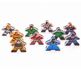 10 Pions meeple personnages Cyberpunk en plexiglas pour jeu de société