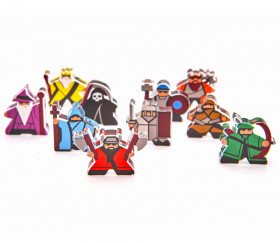 10 Pions meeple personnages Fantasy Squad e-raptor en plexiglas