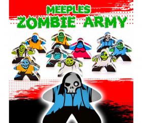 10 Pions meeple personnage zombie e-raptor en plexiglas