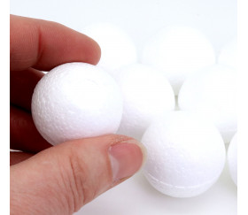 10 Boules en polystyrène à personnaliser 30 mm