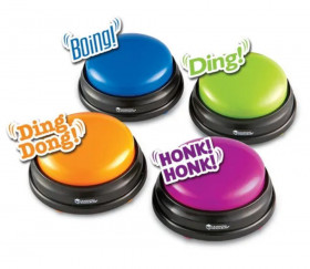 4 Buzzers colorés standards pour vos jeux