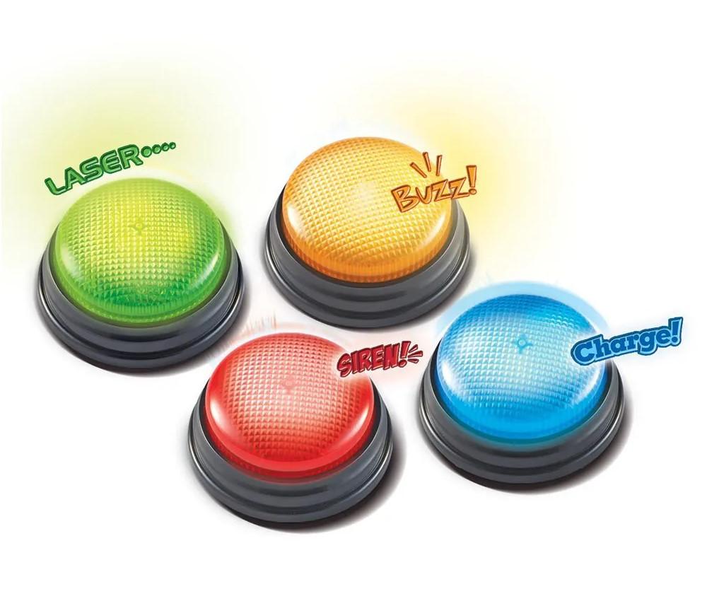 4 Buzzers lumineux et standards pour vos jeux