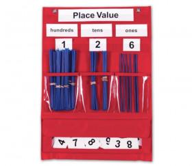 Panneau affichage avec pochettes 44 x 34 cm et accessoires tableau de valeur