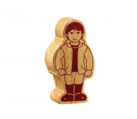 Enfant en bois 80 x 42 x 25 mm garçon personnage jeu