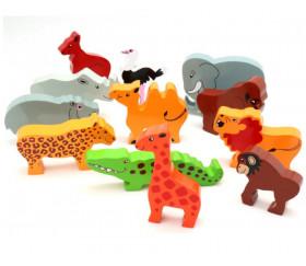 animaux en bois 52 x 34 x 15 mm