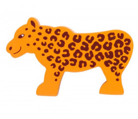 Léopard en bois 53 x 86 x 15 mm