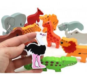 Hippopotame en bois 50 x 90 x 15 mm