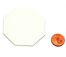 15 Tuiles octogones 50 mm blancs neutres à personnaliser