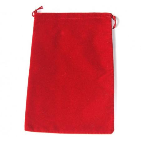 Sac suedine 125 x 190 mm modèle 2 rouge