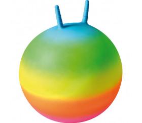 Ballon sauteur 50 cm avec poignets arc-en-ciel