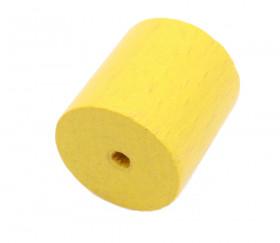 Cylindre troué diam 2.3 cm haut 2.4 cm en bois jaune