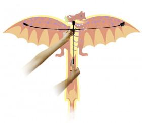 Cerf-volant dragon 3D Rhombus Pop-up