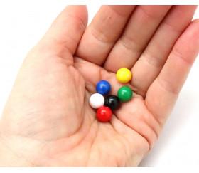 Lot 6 boules plastique 9 mm de diamètre en 6 couleurs - billes