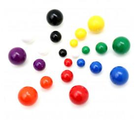 Billes de jeux en plastiques en 6 couleurs